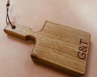 Mini Oak G&T Chopping Board