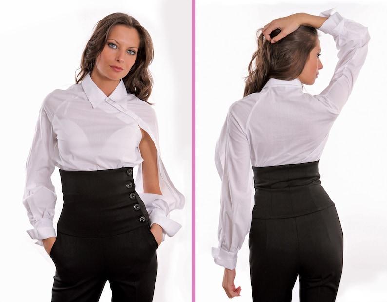 55182be4cd Raglan sleeves shirt Asymmetrical style shirt Hole opening | Etsy