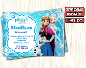 Frozen Invitation Etsy Birthday Invites