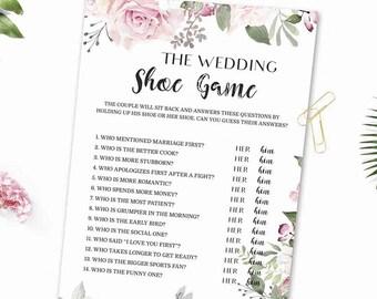 The Wedding Shoe Game Bridal Shower Printable Bridal Wedding