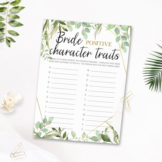 Unique Bridal Shower Games About The Bride Bride Positive