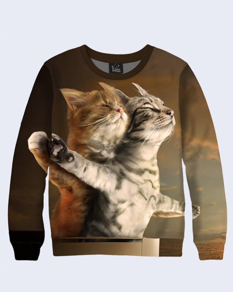 8af2d095e Funny sweatshirt with Titanic Cats Mens Sweatshirt Unique | Etsy
