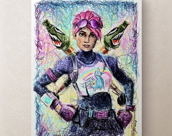 Fortnite Skin Art Etsy