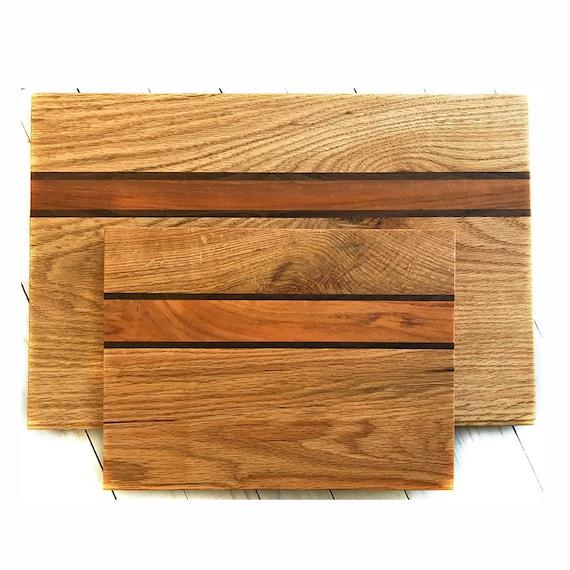 Wood Cutting Board Reclaimed Wood Pieces Oak Bread Board Etsy