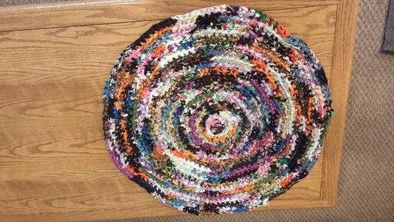 Homemade Crochet Rag Rug Etsy