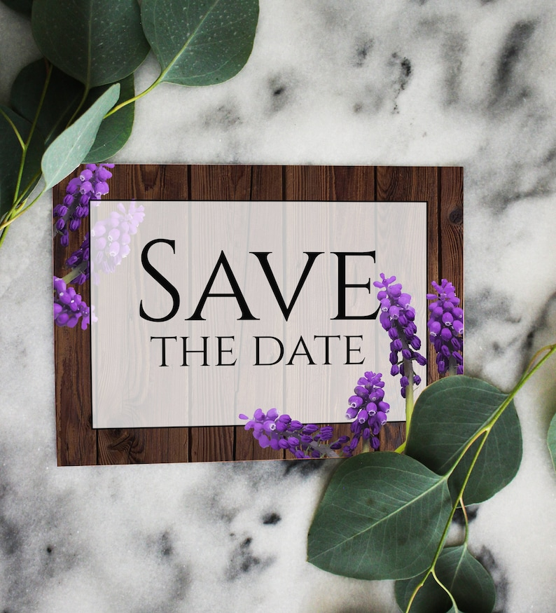 Custom Wedding Announcement Instant Download Wedding Printable Rustic Wedding Save The Date Template
