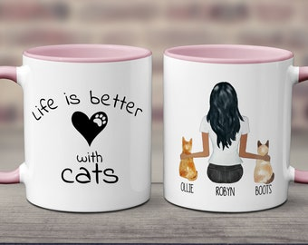 To My Cat Mom Custom Mug Gift For Women  Mug For Coworker Gifts For Cat Lover