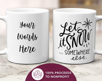 Gift Idea Mug Christmas Mug White Mug Coffee Mug Details about  /Gnome Let It Snow Mug