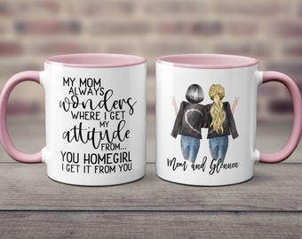 Mom Birthday Gift From Daughter Funny Mother Coffee Mug My Always Wonders Where I Get Attitude Christmas S1016