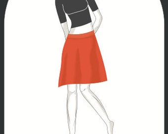 """melonie sewing pattern A-skirt """"Alma"""", size 34-44, e-book"""