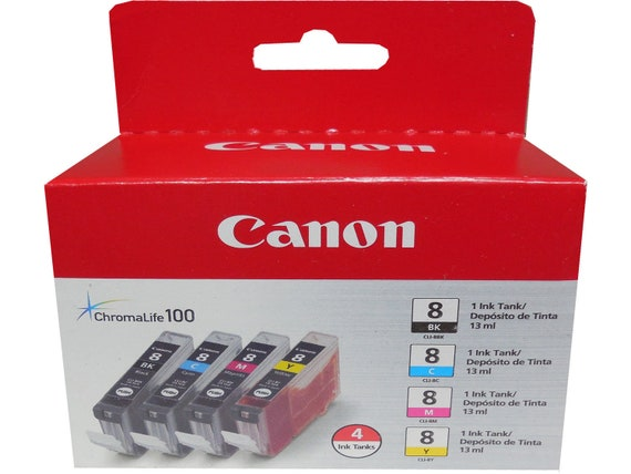 NO BOX NEW Genuine Canon 8 CLI8-Y Yellow Ink Tank BUY MORE 4 LESS