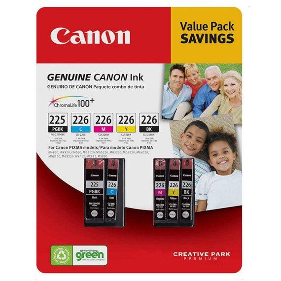 Genuine New 5-pack CANON PGI-225 Black CLI-226 B//C//M//Y Ink Cartridges