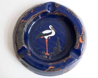 1950s HANSI enamel ashtray, Potasse d'Alsace, 1950s, design by HANSI, vintage cafe decor, vintage french decor