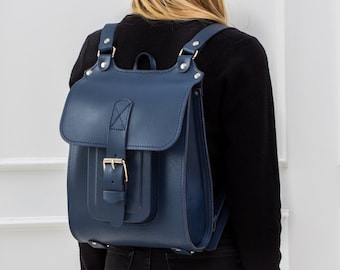 e25552f34f0 Convertible backpack-totebag Leather backpack convertible Minimalist  backpack unisex Leather rucksack men Backpack women Backpack men