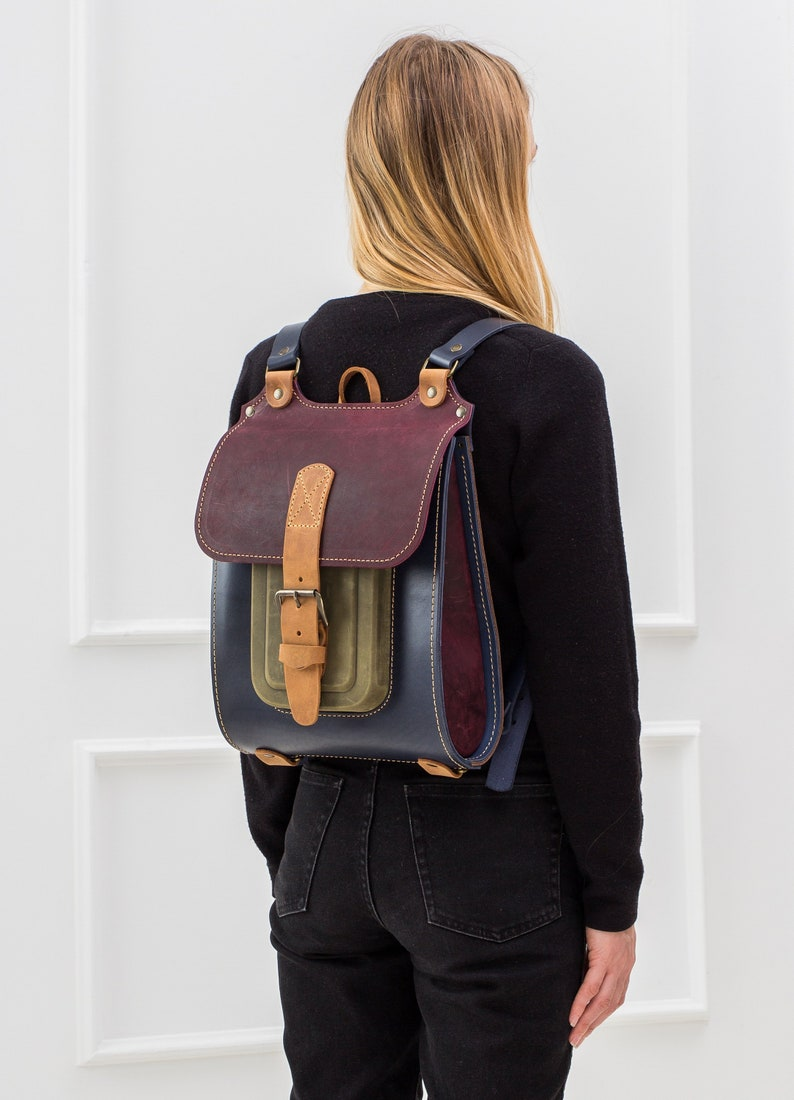 5276bc58a0 Convertible leather backpacks-totebags Leather rucksack