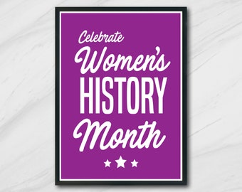 Women's History Month   Poster   Instant Download   Quote   Print