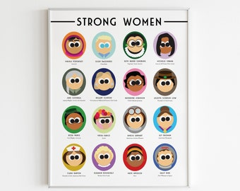 Strong Women Poster   Instant Download