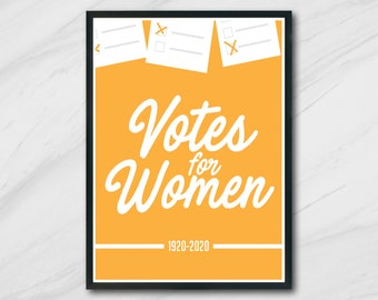 Votes for Women   Poster   Instant Download   Quote   Print
