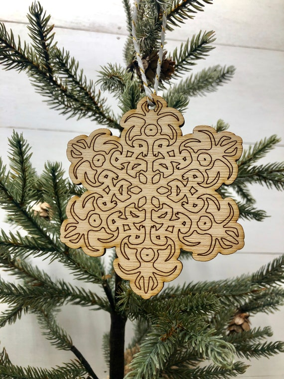Boho Christmas Ornament Boho Style Wooden Decor Natural Wood Decor Bohemian Style Home Decor Christmas Tree Ornament Holiday Decoration