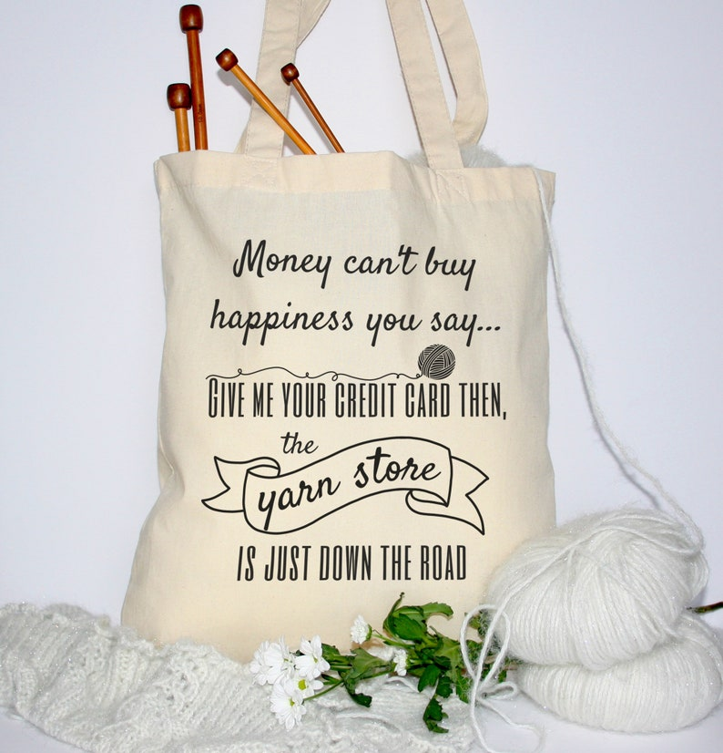 Knitting Project Bag Crochet Bag Funny Tote Bag