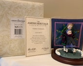Amish Heritage Collection- Winter Fun - Martha Lizzie 30023 - Figure w Quilt- Limited Edition- 1st Issue - 1993 Box, original wrap COA