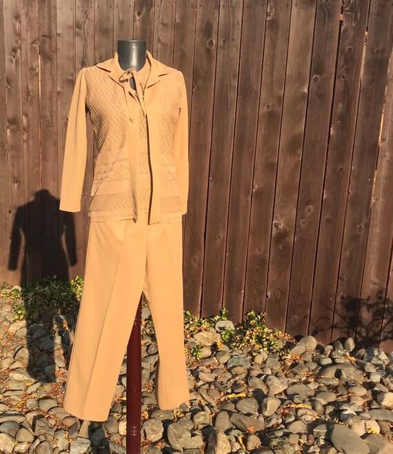 70s Brown Pant Suit