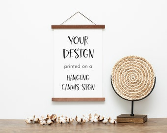 Custom Canvas Sign Personalized Home Decor Wall Art Printable Wall Art Hanging Canvas Print with Magnetic Wood Frame Photo on Canvas