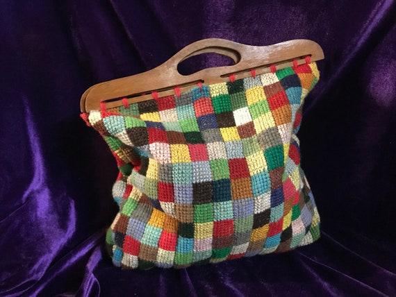 Crochet Bag vintage handmade. Vintage handmade cro