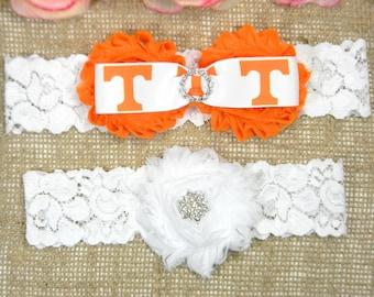 e90a004b5 Orange and White Vols College Inspired Wedding Garter