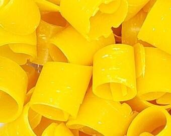 Soap curls, soap shavings, scraps for rebatching or decoration - ASMR Large soap curls, Orange Dial