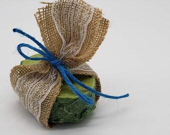 Textured Avocado Homemade Soap, Cold Process Soap, Artisan Soap, Scented Soap