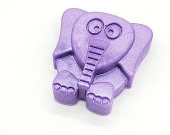 Purple Elephant Homemade Soap, Novelty Soap, Soap Favors, All Natural Soap, Scented Soap
