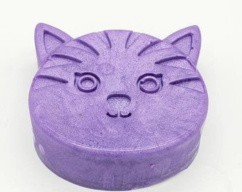 Custom Kitty Cat Homemade Soap, Novelty Soap, Artisan Soap, Kids Soap, Scented Soap - Any Color/Scent/Base listed