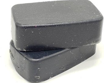 Peppermint and Tea Tree Oil Charcoal facial homemade soap, soap favors, facial soap, charcoal soap