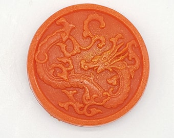 Orange Dragon Homemade Soap, Handmade Soap, Animal Soap, Kids Soap, Favors Soap, Glycerin Soap, Unscented