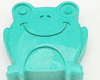 Green Frog Goats Milk Handmade Soap, Children Soap, Kids Soaps, Handmade Soaps, Kids gift, Novelty Soaps, Soap Favors, Scented Soap