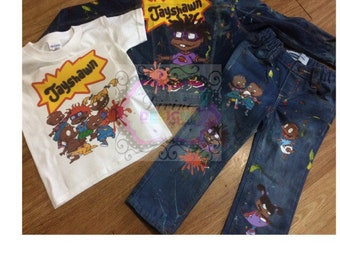 64bdfb8d Rugrats Denim Set, Boys Outfit , Fast Shipping
