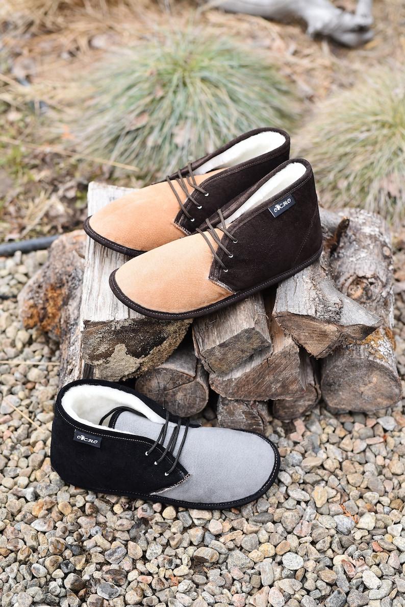 320S full foot sheep boot slipper for men image 0
