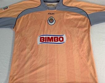 419dc7b2409 Mens Vintage vtg Guadalajara Soccer Goalie keeper Jersey Reebok RBK Bimbo  size Large