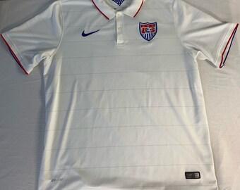 456bc69876f Mens Nike Team USA Soccer Jersey Polo Dri-Fit shirt size XL