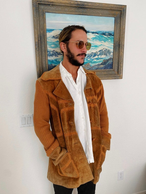 70s Suede Knit Jacket Size XL