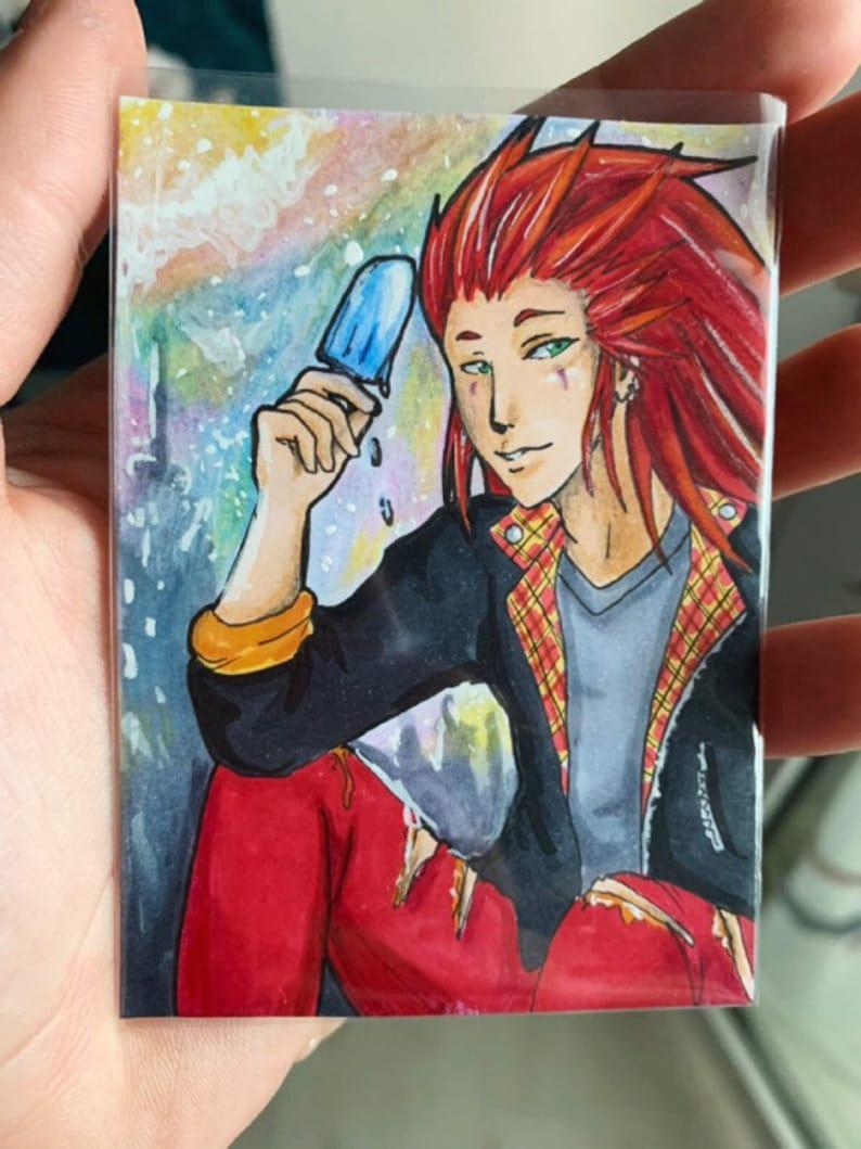 """ACEO LE Art Card Print 2.5/""""x3.5/"""" /"""" Hiding From Rain /"""" Fairy Art by Patricia"""