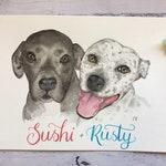 A4 Custom Watercolour Pet Pawtrait/Portrait