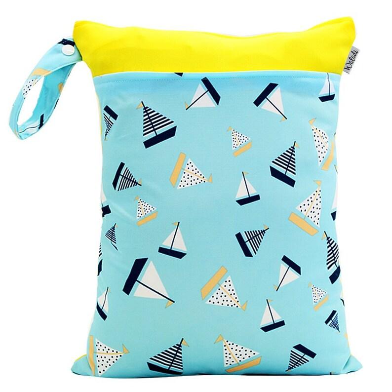 Medium Waterproof Wet Bag with Zip 30 x 40cm Boats