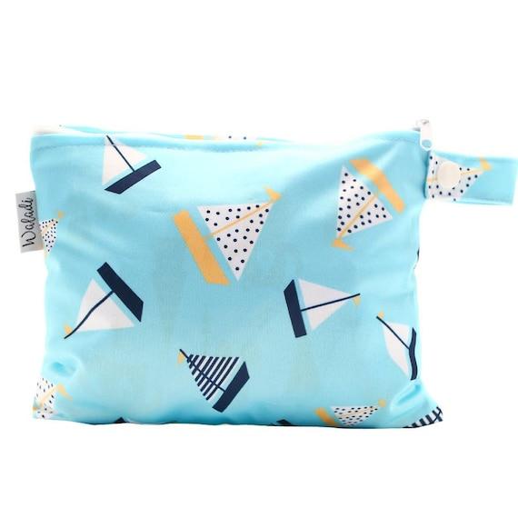 Small Waterproof Wet Bag with Zip 19 x 16cm Forest Design