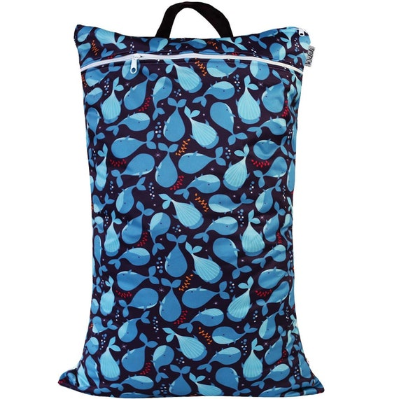 Waterproof Double Zip Large Wet Bag Floral Design 40x70cm