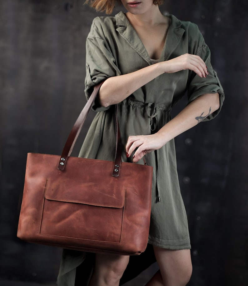 0c34675d72 Work bag women Laptop bag women Leather tote bag with
