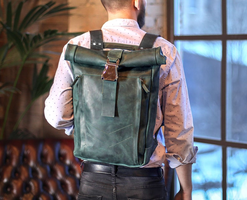 cool gift for him Backpack men 2nd anniversary gift Commuter backpack