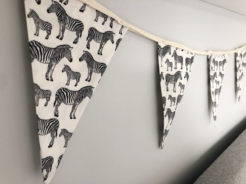 Handmade Grey Star Baby Nursery Double Sided Bunting FREE P+P