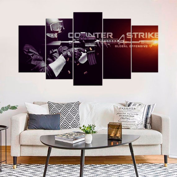 Counter Strike Global Offensive Custom Personalized Art Print Poster Wall Decor